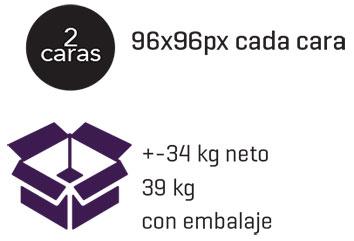 embalaje para cruz farmacia P8s