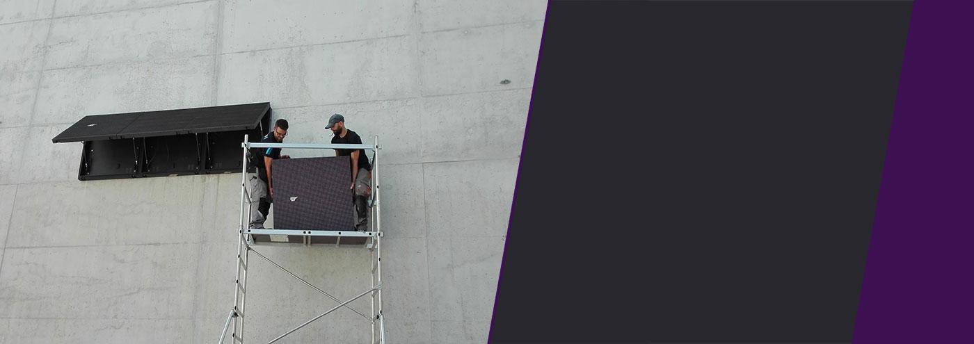 Slider instalación Paneles publicitarios