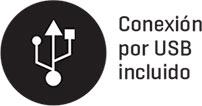 Conexión por USB incluido