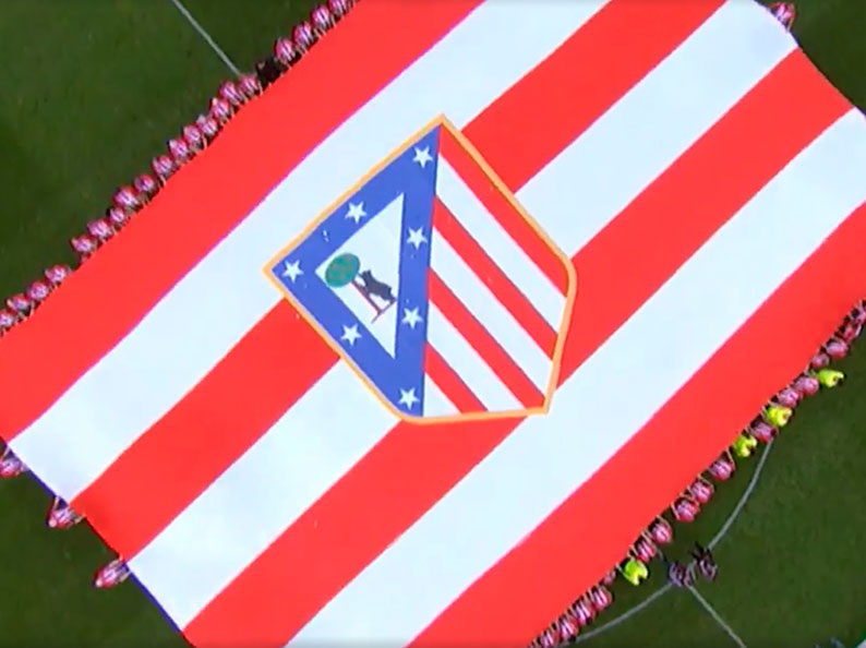Bandera Estadio Atletico de Madrid
