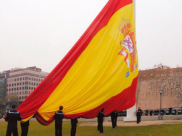 Bandera institucional de gran formato